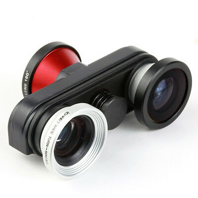 4-in-1 Fish Eye Photo Lens Kit Double Macro Wide Angle Lens for iPhone 5 5S NEW