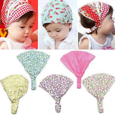 Baby Girl Kid Newborn Flower Headband Hairwear Accessories Headscarf Bandana Hat