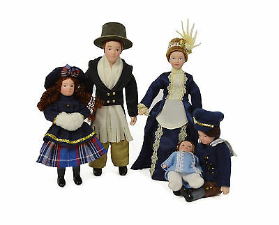 New 5 Piece Dolls House Family Set People Figures Victorian 12th Scale