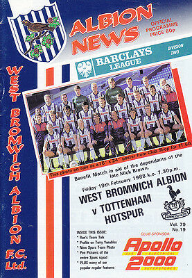 1987/88 West Bromwich Albion v Tottenham (Brown Benefit)