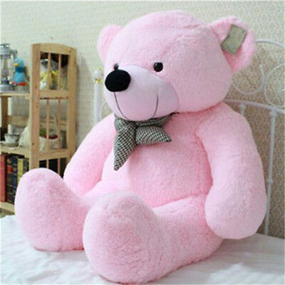 "New 39"" Giant 100CM Big Pink Plush Teddy Bear Huge Soft 100% Cotton Doll Toy"
