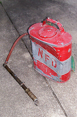 Antique Firefighting Water Tank DB Smith Indian Firemans Vintage Extinguiser Old