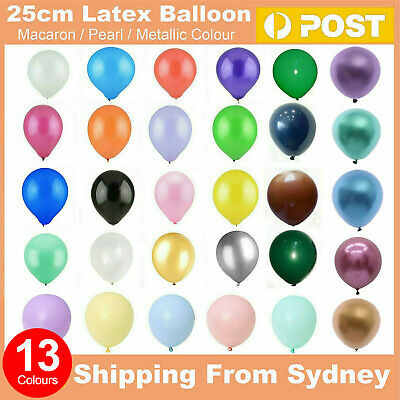 "Latex Standard 25cm / Gaint 36"" Helium Balloons Party Wedding Birthday 13 Colors"