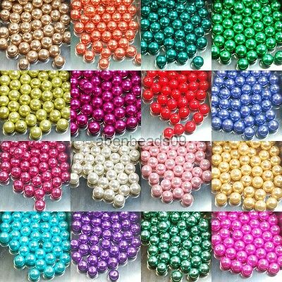 100pcs Top Quality Czech Glass Pearl Round Spacer Beads 3,4,6,8,10,12mm