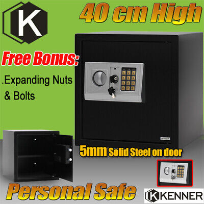 KENNER Personal Safes Electronic Security Safe Box for Home & Office 40cm BLACK