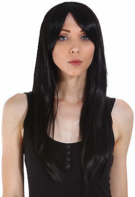 New Womens Ladies Long Straight Hair Cosplay Club Party Wig Included Bang
