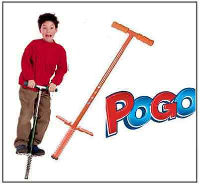 Red Traditional Pogo Stick Childrens Kids Outdoor Jump Bounce Toy