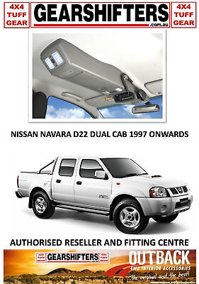 Outback Accessories Roof Console Nissan Navara D22 Dual Cab 4X4 Uhf 1997 - 2015