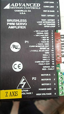 Advanced Motion Controls Brushless PWM Servo Amplifier B12A6F  (#P1B17)