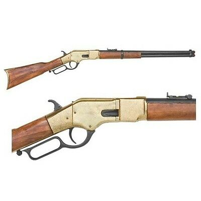 Winchester model lever-action rifle - Brass Finish