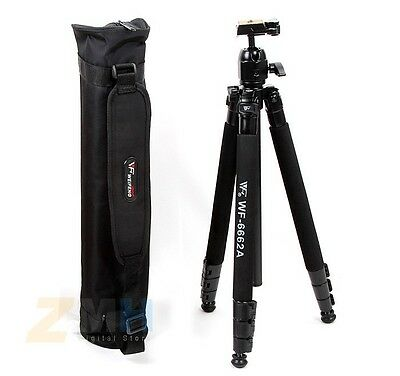 Pro wf 6662A Tripod NEW with Ball head With Carring Bag bear 4 KG Aluminium NEW
