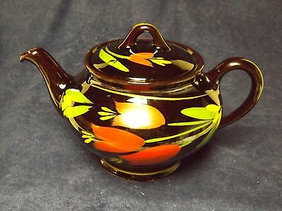 Vintage Royal Dripless Tea Pot Royal Canadian Art Pottery with Red Tulips