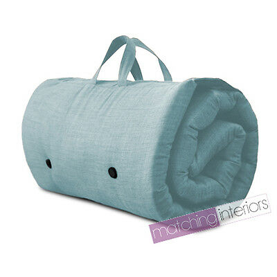 Duck Egg Travel Guest Sleepover Mattress Roll Up Futon Z Bed Gap Year Student