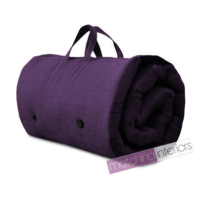 Purple Travel Guest Sleepover Mattress Roll Up Futon Z Bed Gap Year Student