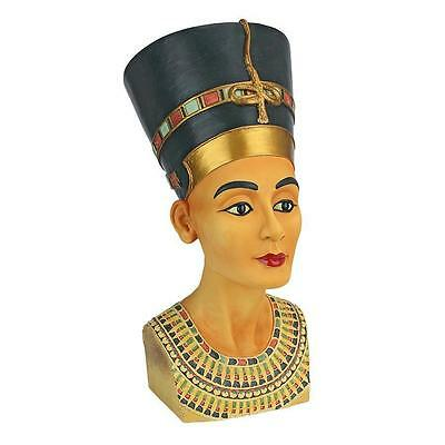 Large: Ruler of the Nile, Queen Nefertiti Egyptian Royal Sculpture Bust Statue