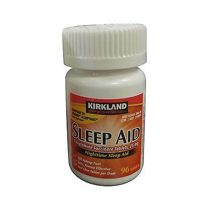 Kirkland Sleep Aid 96 Tablets Doxylamine Succinate 25mg FREE WORLDWIDE SHIPPING