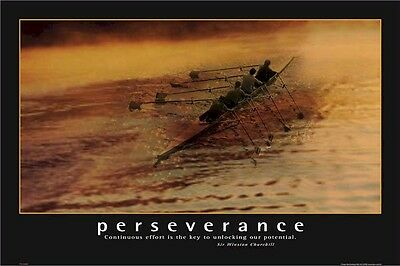 HOW I MET YOUR MOTHER POSTER ~ PERSEVERANCE ROWING 24x36 Effort Barney Stinson