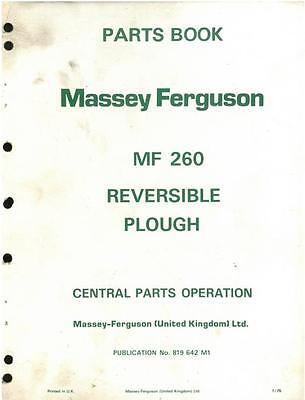 Massey Ferguson Mf260 Plough Mf 260 Parts Manual