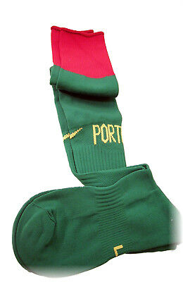 NIKE PORTUGAL Football Socks Home Green Adults L UK 7.5- 11