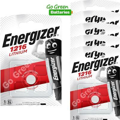 6 x Energizer 1216 CR1216 3V Lithium Coin Cell Battery DL1216 KCR1216, BR1216
