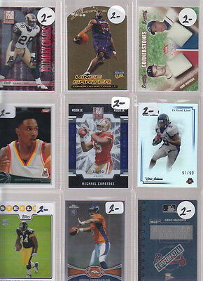 HUGE SPORTS CARD COLLECTION LOT DEALER INVENTORY JETER KOBE ELWAY BREES MARINO