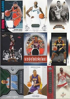 HUGE CARD COLLECTION BASKETBALL GAME USED AUTO SERIAL NUMBERED PAUL AMARE DAVIS