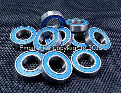 ABEC-3 (10 PCS) 6802-2RS 6802RS (15x24x5 mm) Rubber Sealed Ball Bearing Blue