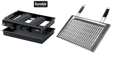 Unita' Inserto A Gas 2Fuochi Per Barbecue 60Cm Sunday Duo - Sunday Grill 4012037