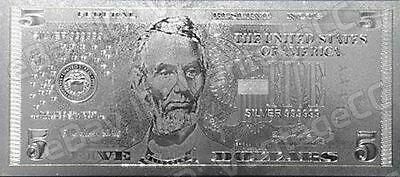 999 SILVER **$5** Dollar Bank Note Banknote Bill Certificate of Authenticity COA