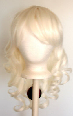20/'/' Layered Loose Curly Cut w// Long Bangs Scarlet Red Cosplay Wig NEW