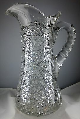 ABP American Brilliant Period Cut Glass Water Pitcher - Superior Condition