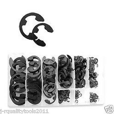 300 PC PIECE ECLIP METAL STEEL E-CLIP FASTENER ASSORTMENT KIT