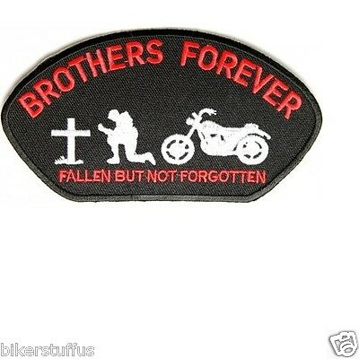 Brothers Forever Fallen But Not Forgotten Patch Biker