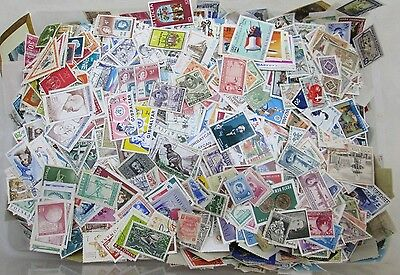 500 Mixed World Stamp Lot - a mix of used, mint, hinged, not hinged, etc.
