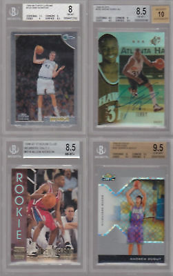 HUGE CARD LOT COLLECTION BGS GRADED BASKETBALL LOT NOWITZKI WADE BIRD BOSH