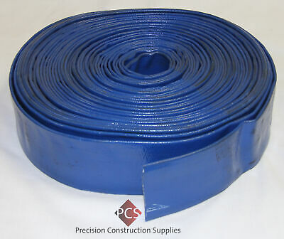 "2"" (50mm) x 100M Blue Layflat Water Hose- Continental/Sun-Flow Inc- Made in USA"