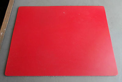RED ABRASIVE RESISTANT RUBBER SHEET - 300 mm x 214 mm x 3 mm A4 FREE POST