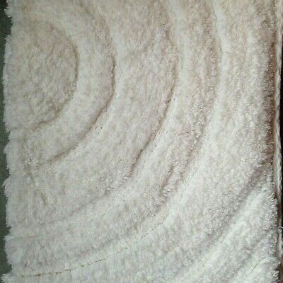White Bath Mat Large Shower Thick Soft Pure 100% Cotton - Made for M&S