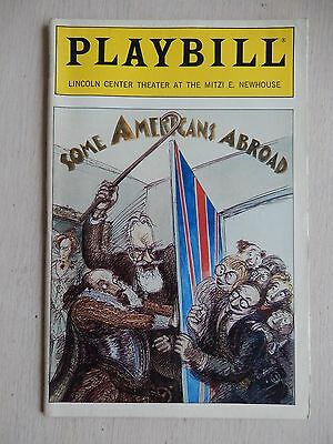 January 1990 - Mitzi E. Newhouse Theatre Playbill - Some Americans Abroad