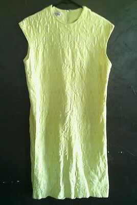 Puritan vtg 60's quilted yellow sleeveless dress sundress size M L