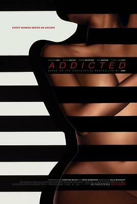 "ADDICTED - 13.5""x20"" Original Promo Movie Poster 2014 MINT Zane Rare"