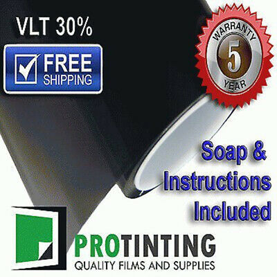 Window Tint Film Black 1000mm X 6m Roll 100cm X 6m 30% VLT Auto House