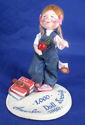 Annalee Doll Jack And Janet Girl School Books 1993 Tagged Pin Mint