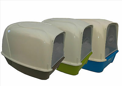 Cat Toilet Loo Hooded Cat Litter Tray With Door 3 Colours