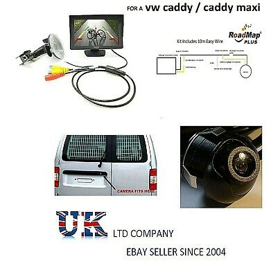 vw caddy Rear reversing camera kit number plate 036