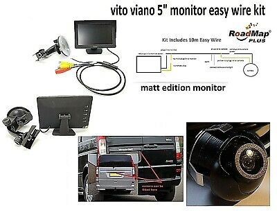 mercedes vito viano Rear reversing camera 5 inch monitor parking