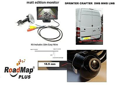 mercedes sprinter vw crafter Rear reversing camera 5 inch monitor parking