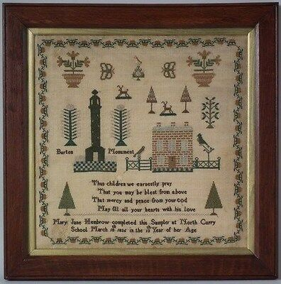 1836 North Curry School Sampler by Mary Jane Hembrow