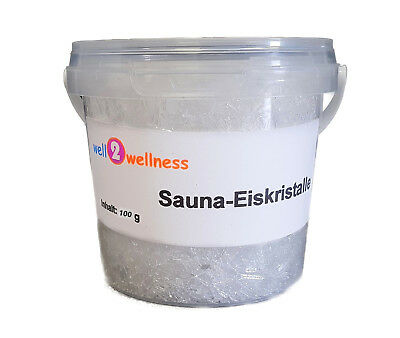 Sauna - ice crystals Menthol made of 100%% pure mint oil in 100g handle bucket