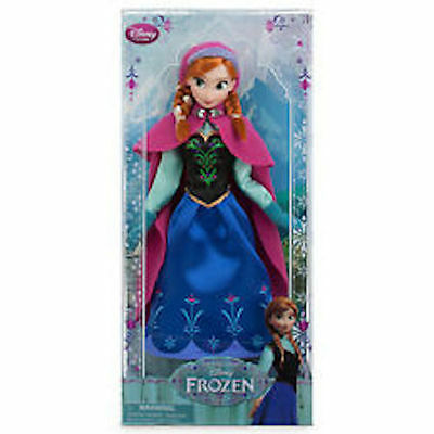 """disney store frozen anna classic doll toy 12"""" rare new with box"""